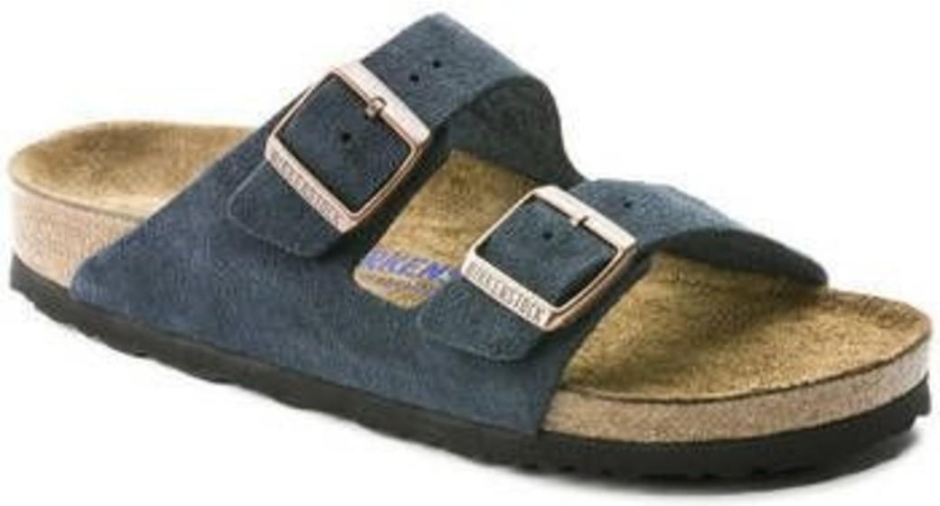 Birkenstock Arizona navy suède leather soft footbed for normal feet