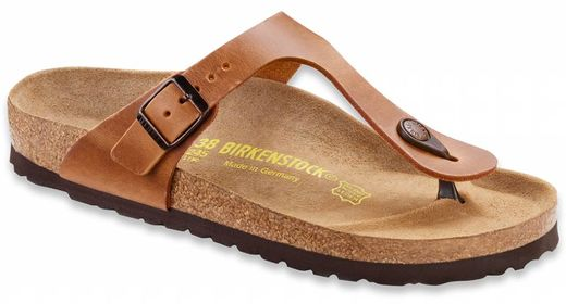 Birkenstock Birkenstock Gizeh antique brown leather