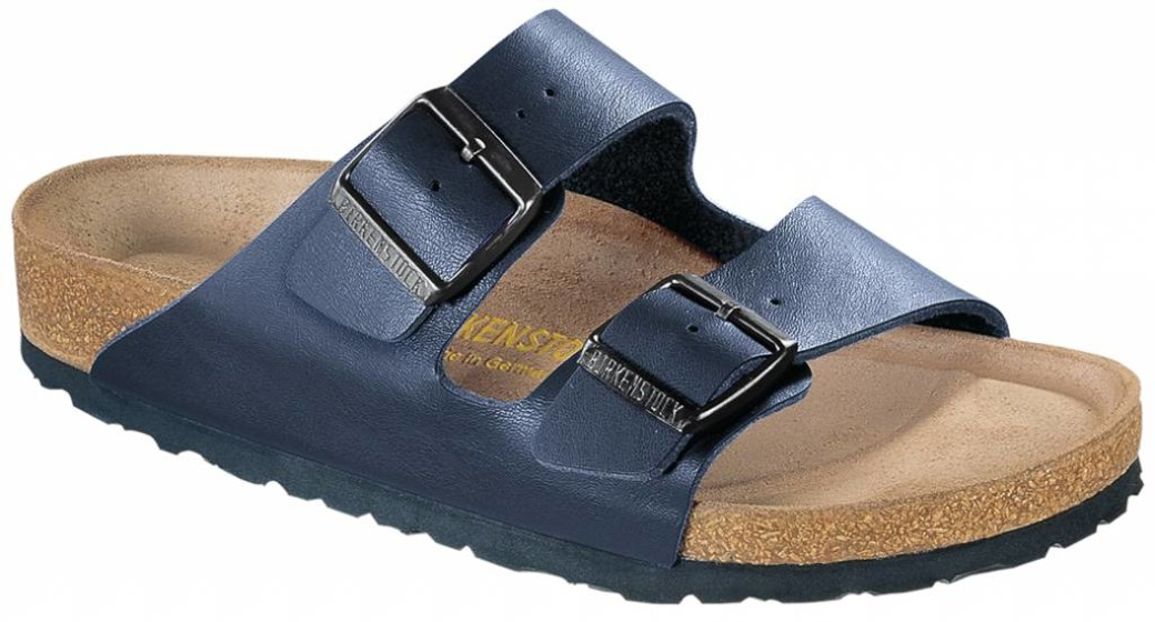 Birkenstock Arizona blue with soft insole in 2 width
