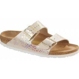 Birkenstock Arizona shiney snake cream 43