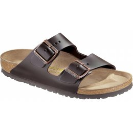 Birkenstock Arizona brown leather and soft footbed in 2 widths