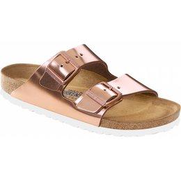 Birkenstock Arizona metallic koper leer zacht voetbed