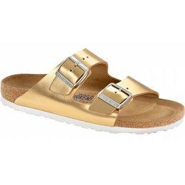 Birkenstock Arizona liquid gold leather soft footbed