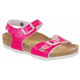 Birkenstock Rio patent neon pink