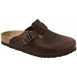 Birkenstock Boston habana leer
