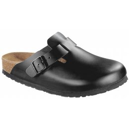 Birkenstock Boston black leather soft footbed in 2 widths