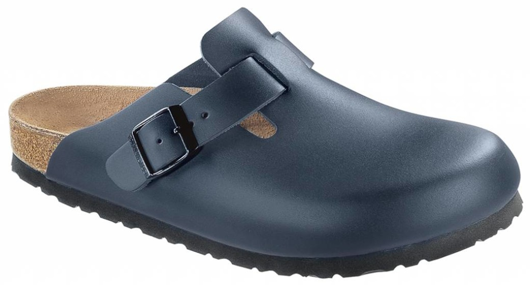 Birkenstock Boston blauw leer