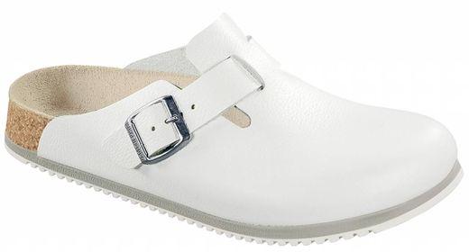 Birkenstock Birkenstock Boston white leather, anti-slip sole