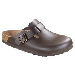Birkenstock Boston donkerbruin leer