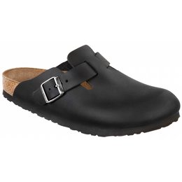 Birkenstock Boston geolied zwart leer