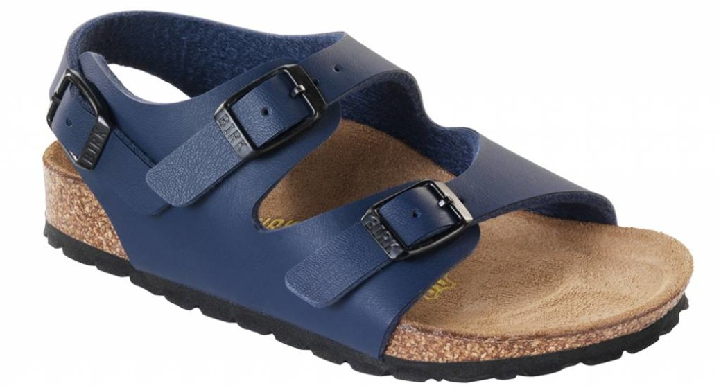 Birkenstock Roma kids blue,  wide
