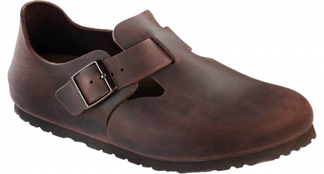 Birkenstock London habana leer in 2 breedtes
