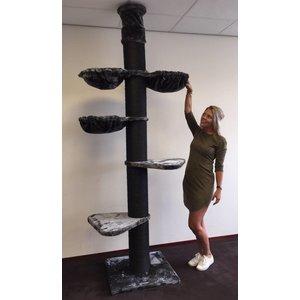 RHRQuality Arbre à chat Maine Coon Tower PLUS Blackline Dark Grey