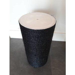 RHRQuality Poteau sisal 40x20 M10 BLACKLINE