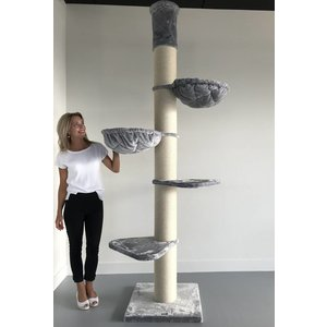 RHRQuality Arbre à chat Maine Coon Tower Light Grey