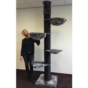 RHRQuality Arbre à chat Maine Coon Tower Blackline Dark Grey
