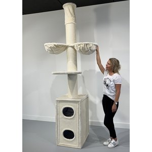 RHRQuality Arbre à chat Cat Tower Box Cream