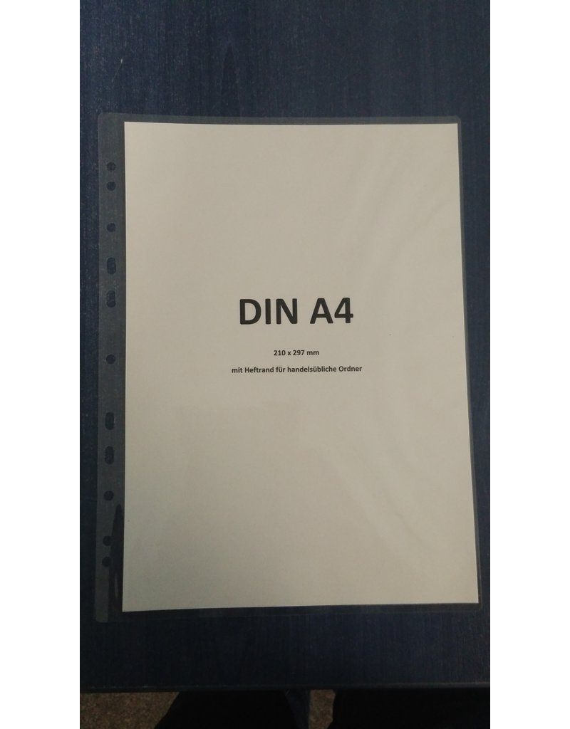 DIN A4- Laminierung mit Heftrand