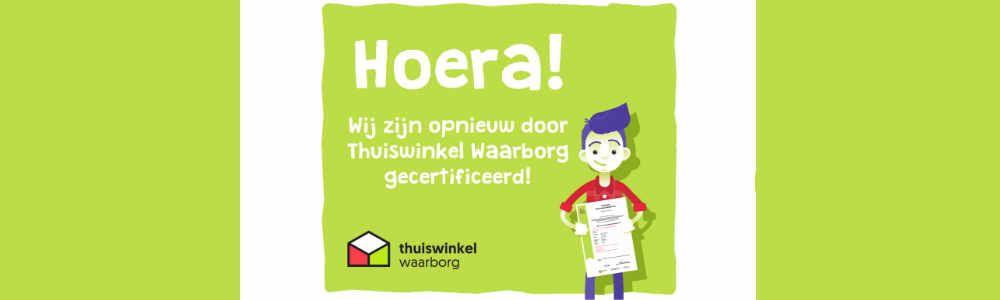 Alweer 12 jaar gecertificeerd door Thuiswinkel.org
