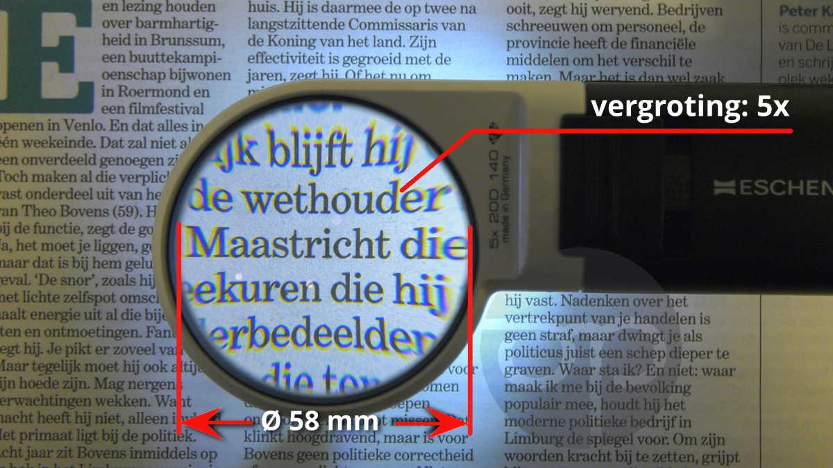 lens vergroting 5x