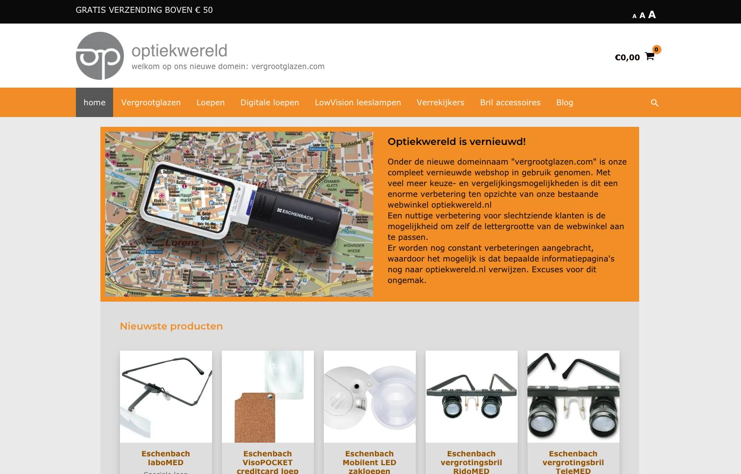 Nieuwe webshop optiekwereld in gebruik genomen