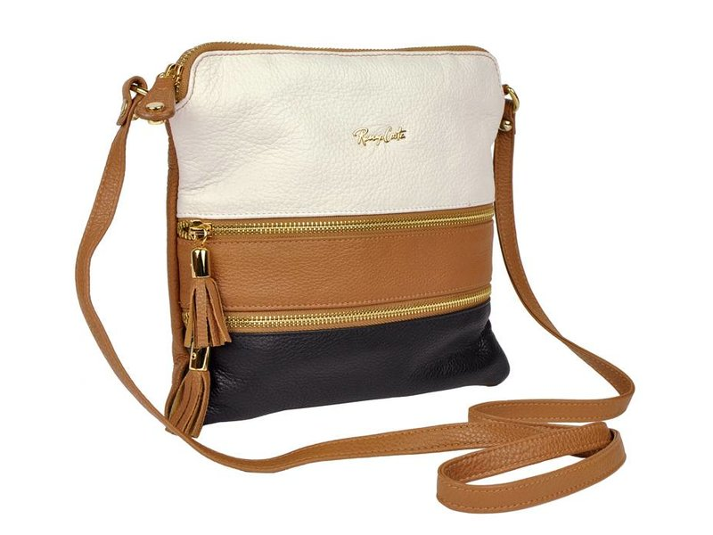 Renzo Costa 1701 - crossbody bag - white bruin black