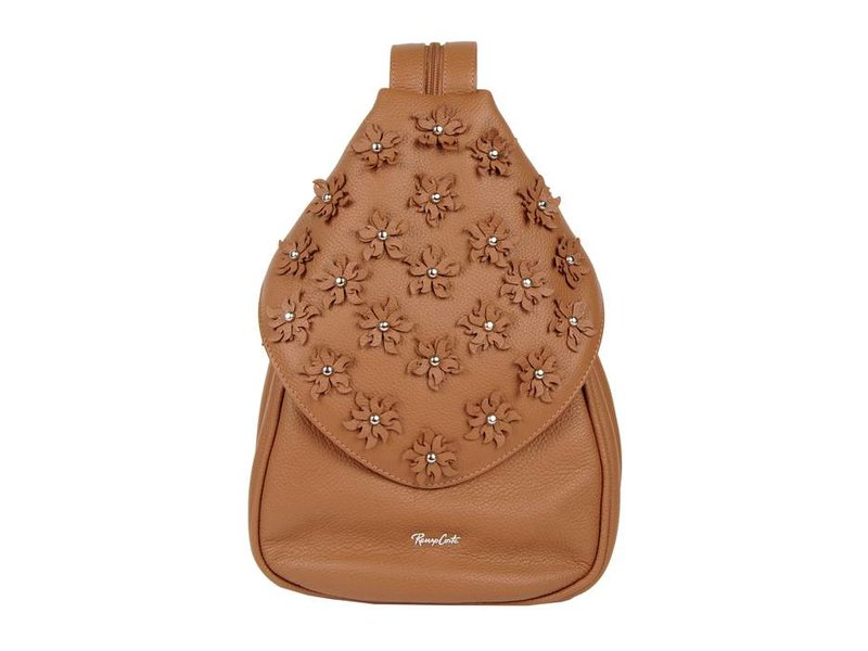 8b00e364996 Renzo Costa MC 1802 | leather women's backpack - brown - Fachera.nl