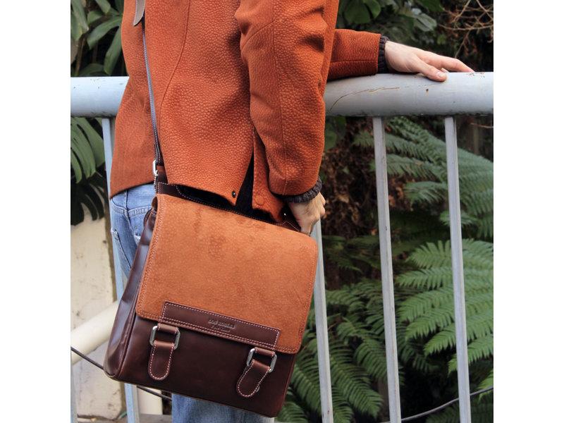 Los Robles Polo Time San Telmo - crossbody bag - carpincho - brown