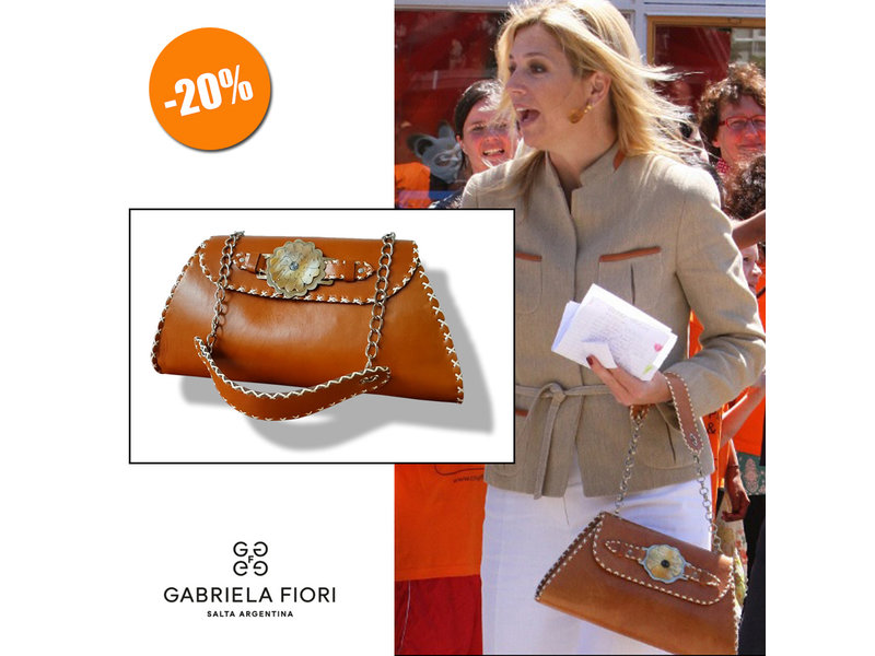 Gabriela Fiori Gabrielle - schoudertas - cognac