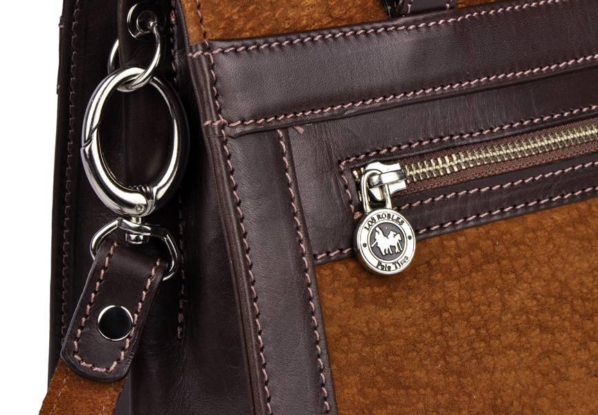 9e942180195 Chique carpincho leren handtas bruin - Los Robles Polo Time - Fachera.nl