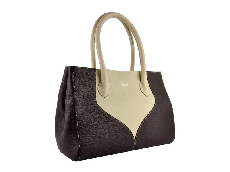 Peter Kent Palermo - handbag - brown/off white