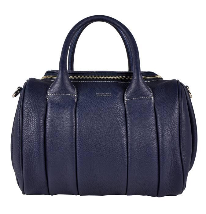 6240624eb3e9 Luxury leather handbag dark blue - Peter Kent Lyon