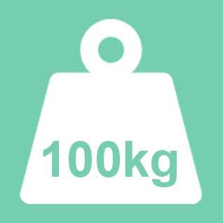 Dit product wordt geadviseerd te gebruiken tot een gewicht van 100kg. Bij een 2-persoons uitvoering geldt 100kg per ligplaats.