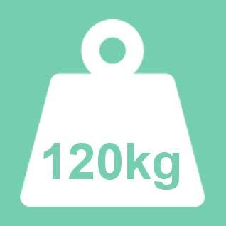 Dit product wordt geadviseerd te gebruiken tot een gewicht van 120kg. Bij een 2-persoons uitvoering geldt 120kg per ligplaats.