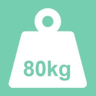 Dit product wordt geadviseerd te gebruiken tot een gewicht van 80kg. Bij een 2-persoons uitvoering geldt 80kg per ligplaats.
