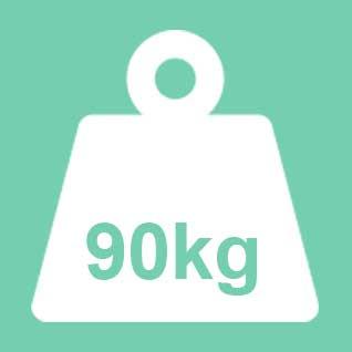 Dit product wordt geadviseerd te gebruiken tot een gewicht van 90kg. Bij een 2-persoons uitvoering geldt 90kg per ligplaats.