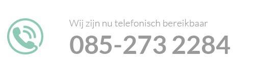Klantenservice nu geopend! Telefoonnummer: 085-2732284