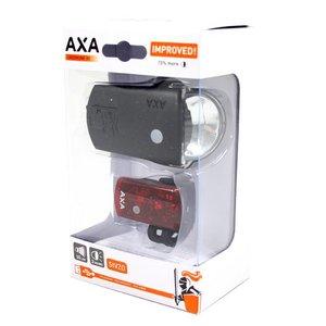 Axa verlichting set Greenline 35 Lux Usb