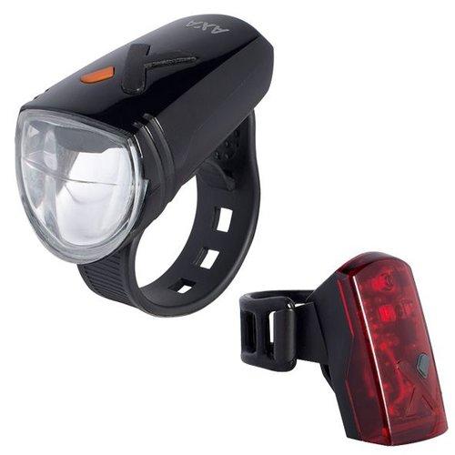 Axa verlichting set Greenline 8 Lux Usb