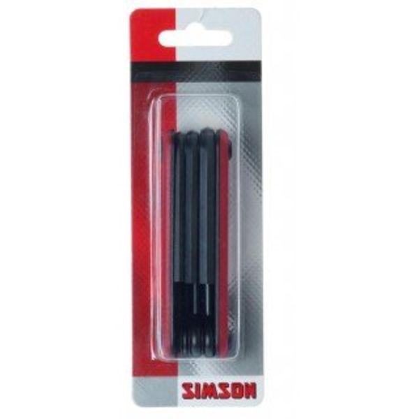 Simson multi tool, rood/zwart