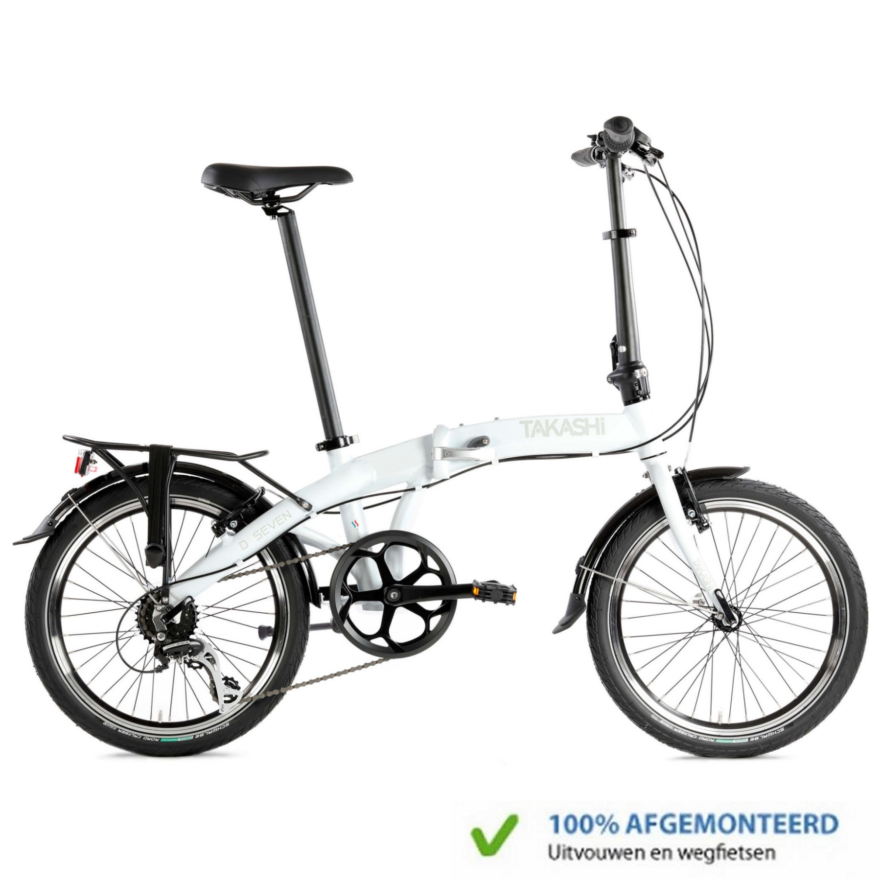 TAKASHi Vouwfiets Seven Wit