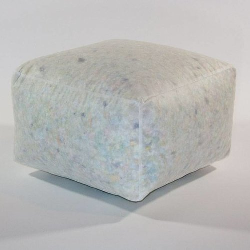 White Cubic Pouf - Flakes