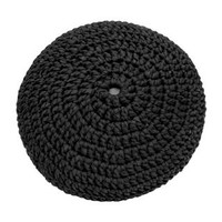 thumb-Pouf filling ø 80 cm Black-2