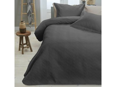 Sleeptime Sprei - Wave - Antraciet - 260x250 cm