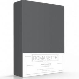 Romanette Hoeslaken - Katoen - Antraciet