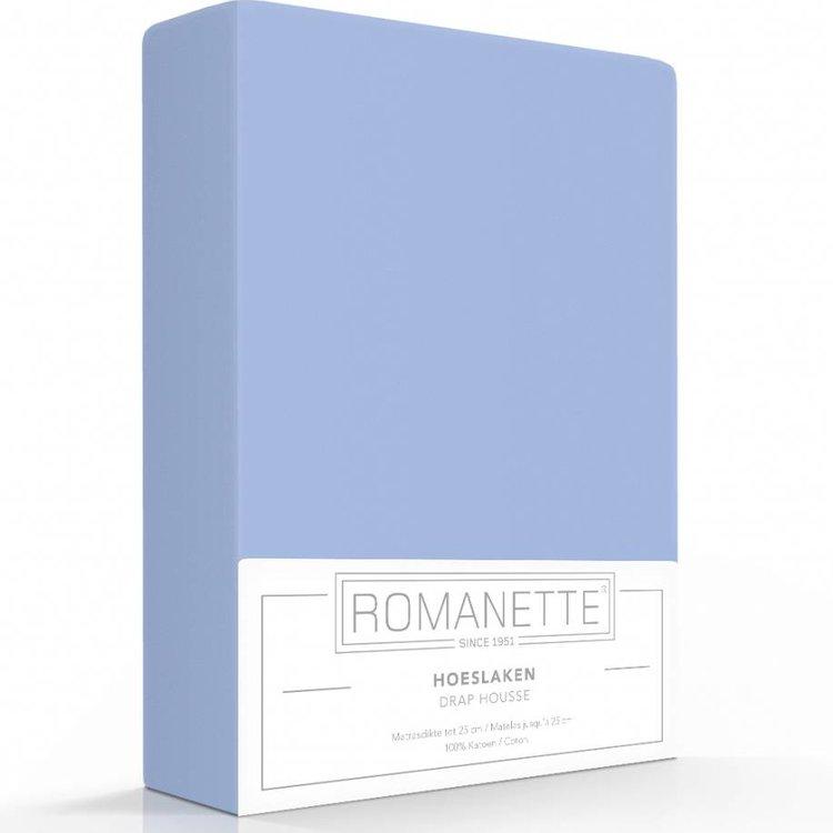 Romanette Hoeslaken Katoen Blauw