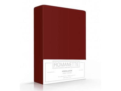 Romanette Hoeslaken Katoen Bordeaux Rood