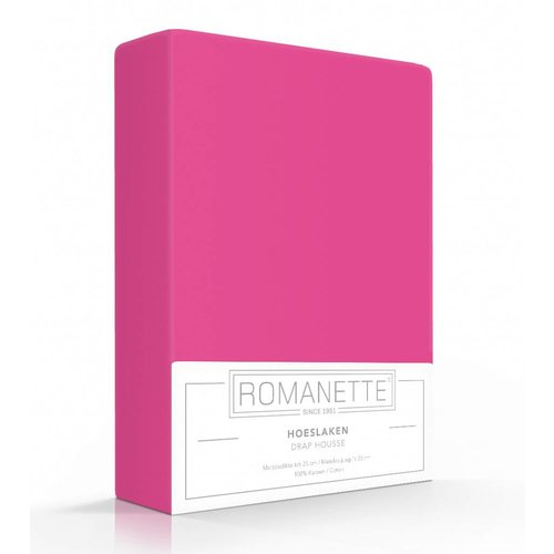 Romanette Hoeslaken - Katoen - Fuchsia Roze