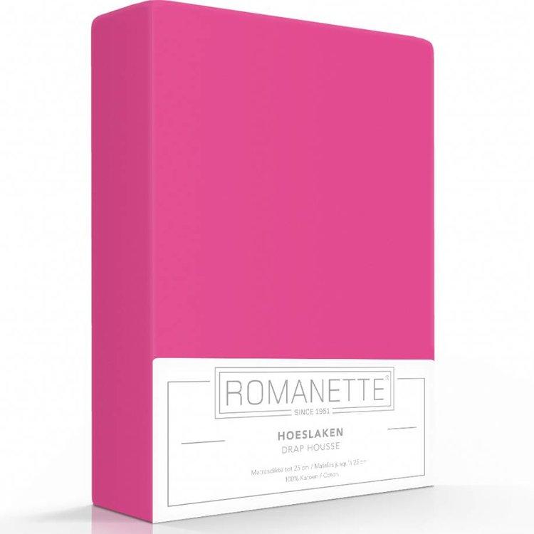 Romanette Hoeslaken Katoen Fuchsia Roze
