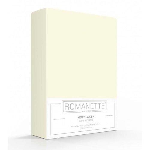Romanette Hoeslaken Katoen Crème Ivoor